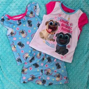 Disney Puppy Dog Pals 3 piece pajama set size 3